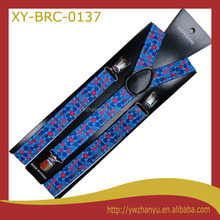 new fashion blue series red flower shirts braces belt for kids