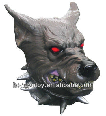GREY WEREWOLF LATEX MASK, HALLOWEEN, FANCY DRESS, SCARY WOLF WAREWOLF DOG