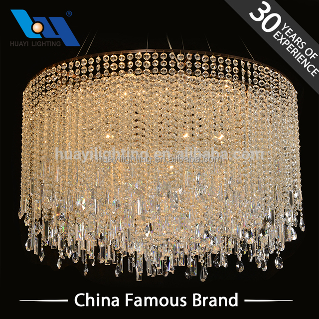 Zhongshan High Quality Hotel Decorative Led Modern Pendant Light Lamp Crystal For Chandelier Lighting