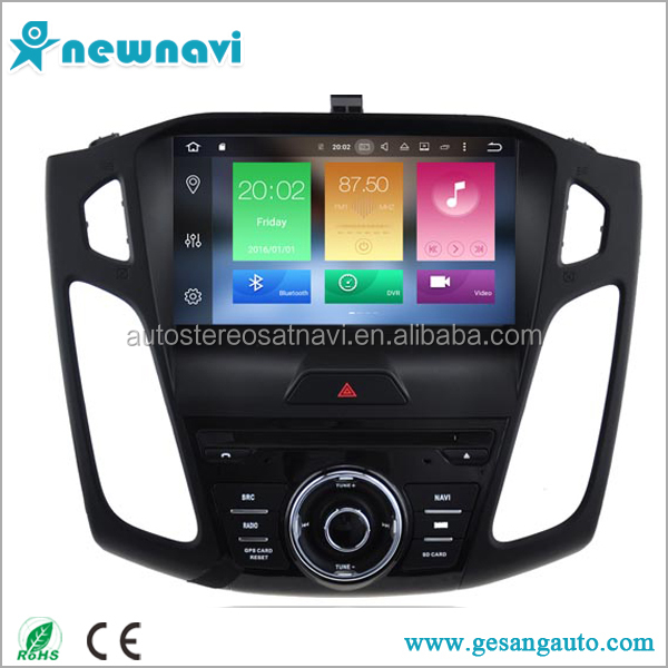 Wholesale auto car radio 2 din android 6.0 car dvd with gps navigation for Ford focus 2015
