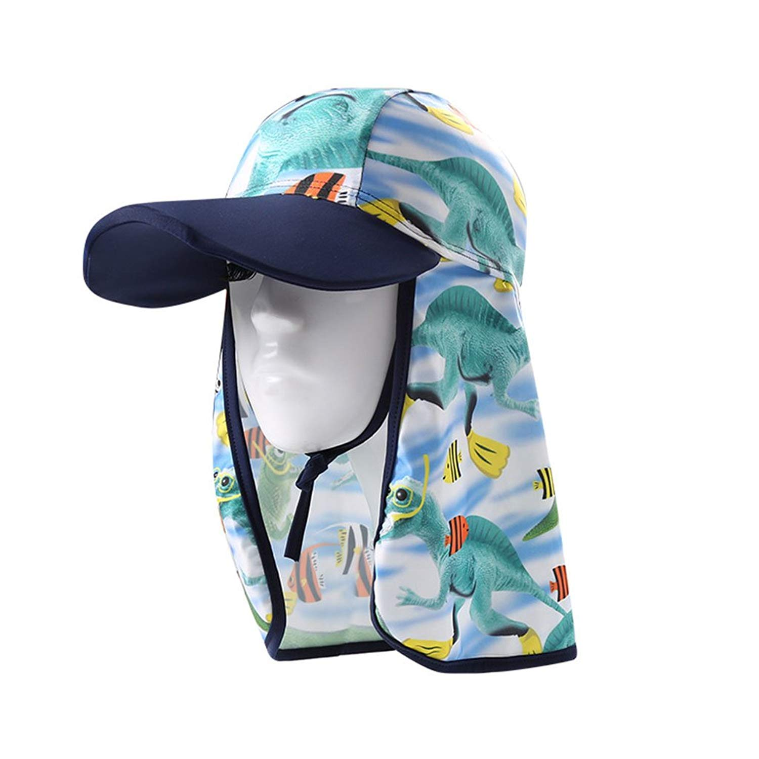 c5202493697 Get Quotations · Gogokids Boys Girls Sun Hat Flap Cap - Kids Sun Protection  Beach Hat Summer Visor Cap