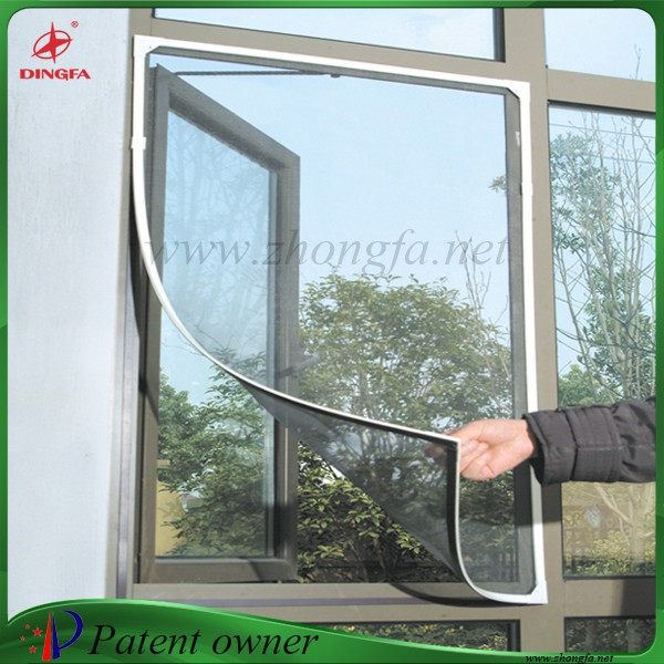 Aluminum and magnet frame diy magnetic insect screen window