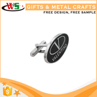 Wholesale custom size personalised cufflinks silver