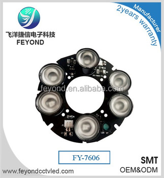Feyond Array 6 High Power Infrared Ir Led Light Board Module For Cctv  Camera W Cover Fy-7606 - Buy 6 High Power Array Led,Infrared Ir Led  Board,Cctv