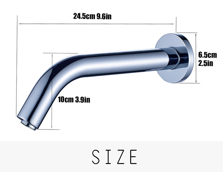 Concealed brass touchless single cold automatic sensor faucet for bathroom & kitchen