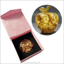 Shining gold apple Blown glass Christmas ornaments Gold bottle OEM Factory direct sale