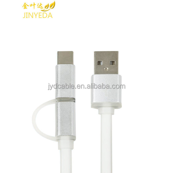 Hot sales phone accessories mobile 2 in 1 usb cable universal phone charging cable
