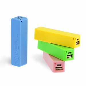 Single USB power bank mini 2600mAh portable backup battery charger 5V 1A external battery pack power