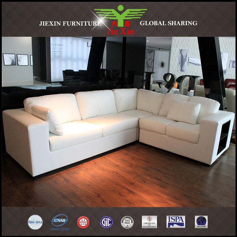 en forma de l sof moderno sof de cuero muebles hogar