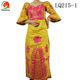 LQ215 Queency Latest Long Sleeve Design African Guinea Brocade Embroidery Bazin Dress