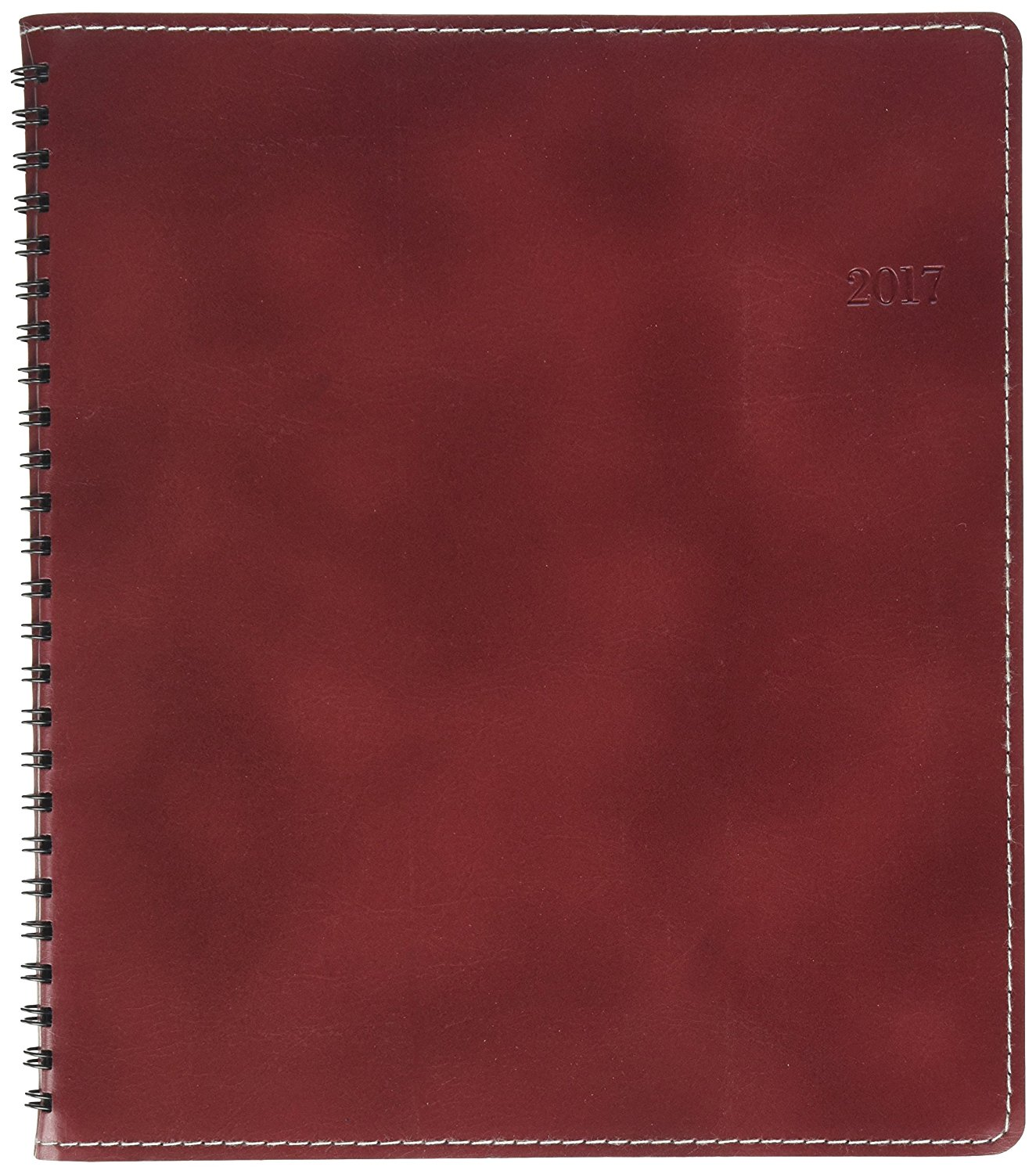 Day-Timer Weekly/Monthly Planner, Medium, 6-7/8 x 8-3/4 Inches, Leather/Red (DTM33343)