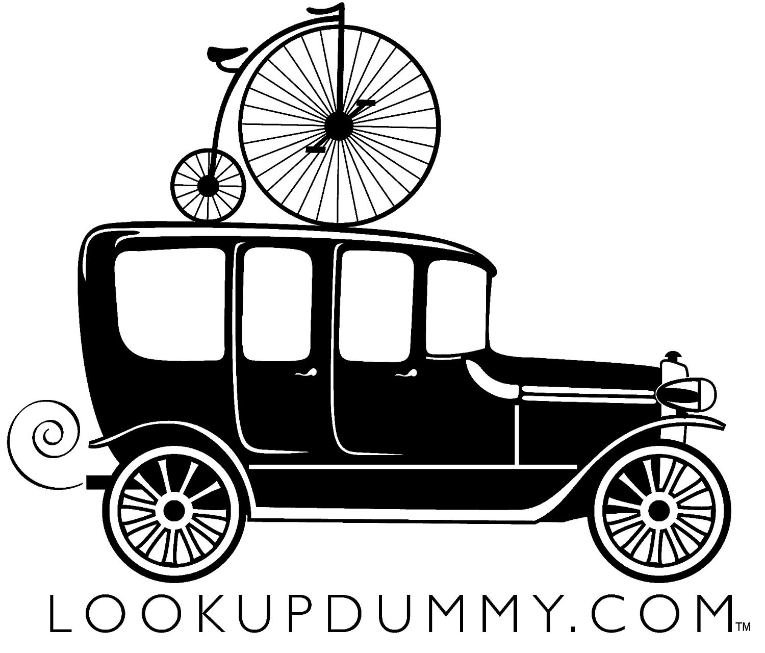 Old Car - Bike Roof Rack and Bike Rear Rack Windshield Reminder and Warning System - A Non-Adhesive Removable and Reusable Vinyl Window Cling - Save Your Bike Car and Rack from Damage!