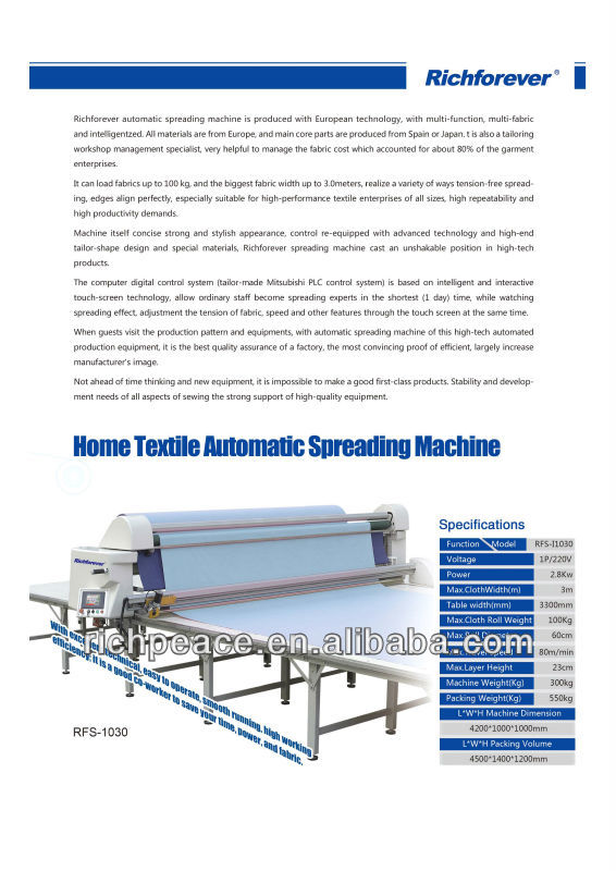 Richpeace Automatic Fabric Spreading Machine