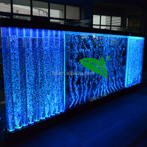 Hotel hot selling bar bubble wall water panel acrylic led light water bubble wall