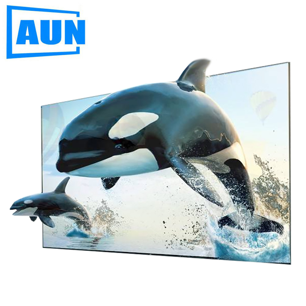 AUN 16:9 Anti-light Screen, 100 inch Brightness Enhancement Screen for Home theater, LED Projector DLP projector фото