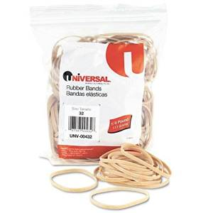 UNIVERSAL OFFICE PRODUCTS 432 Rubber Bands, Size 32, 3 x 1/8, 205 Bands/1/4lb Pack