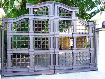 Mexican Luxury Gates Wrought Iron Exterior Main Double Door Design