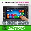 Multimedia Wince6.0 2din 6.2inch universal car dvd audio video player