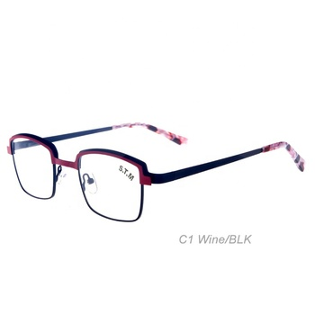 9052 Unique design high quality cool square eyeglass for unisex
