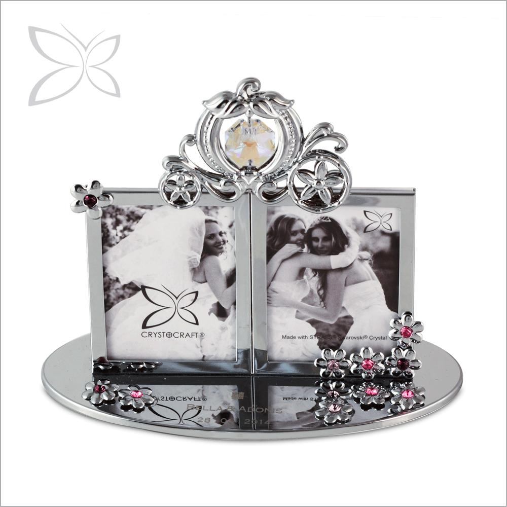 Promotion Elegant Crystals Wedding 2r Picture Frames - Buy Crystal ...