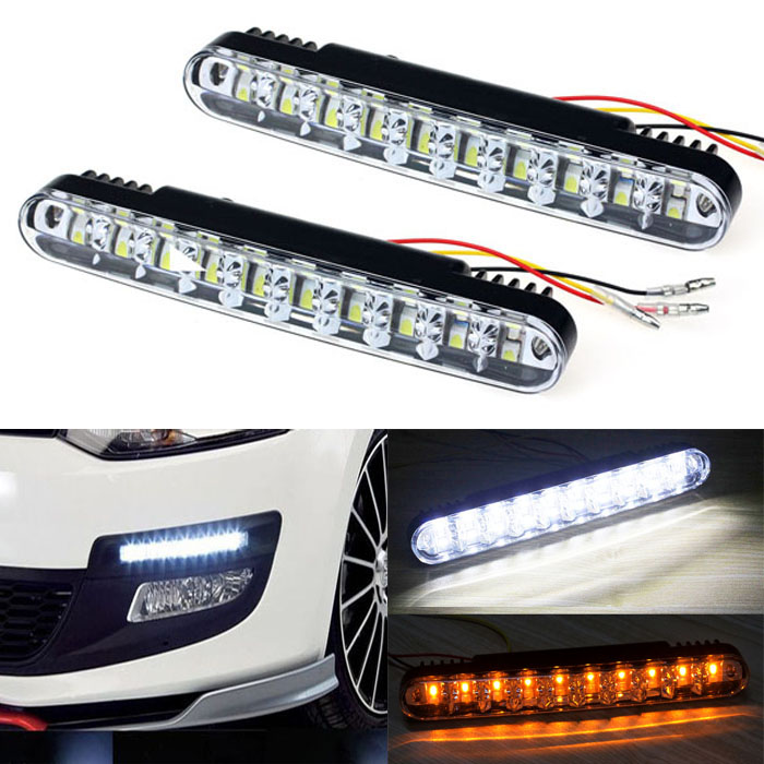 Led Auto Lights >> 1pair 30 Led Car Daytime Running Light Drl Daylight Lamp With Turn Lights Day Time Day Running Lights Lamps