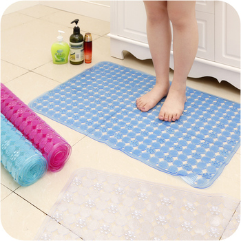 Flexible Floor Cover PVC Anti-slip Toilet Mat with Massage Pads