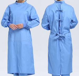 cheap washable fabric reusable lab gown hospital doctor gown surgical gown