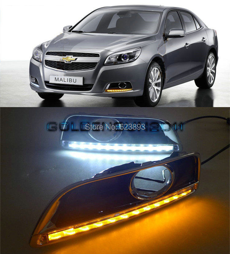 Free Shipping,2x LED DRL Daytime Running Light With Turn