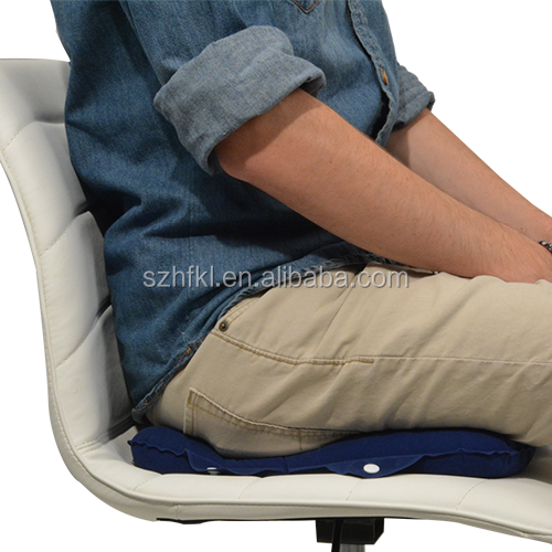Multi-Purpose Cushion inflates quickly for use as a seat cushion or head pillow