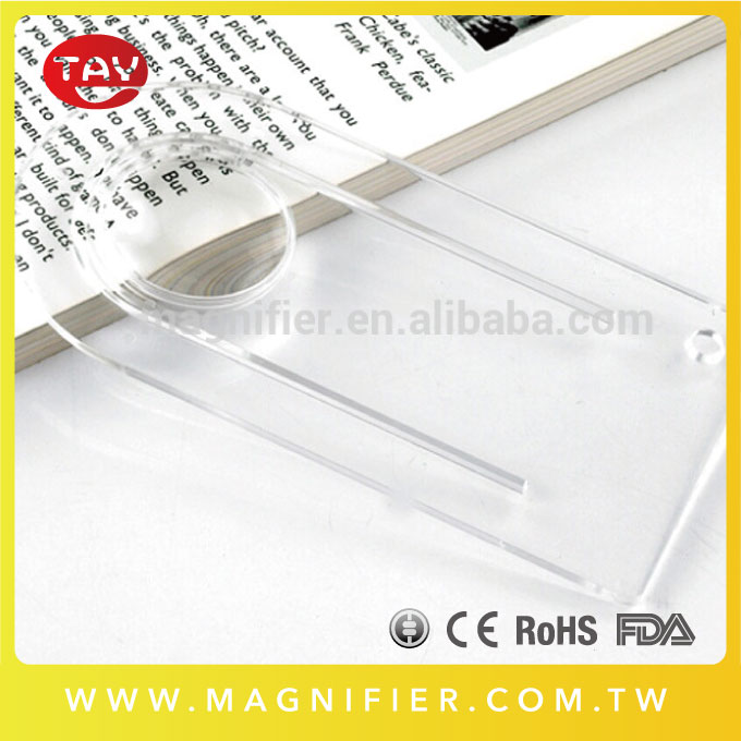 Advertising Premium 3x Transparent Acrylic Bookmark Magnifying Lens