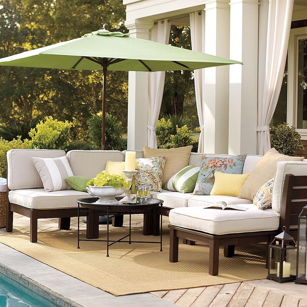 Modern Wooden Frame Sofa Set Designs Solid Teak Wood Outdoor Furniture