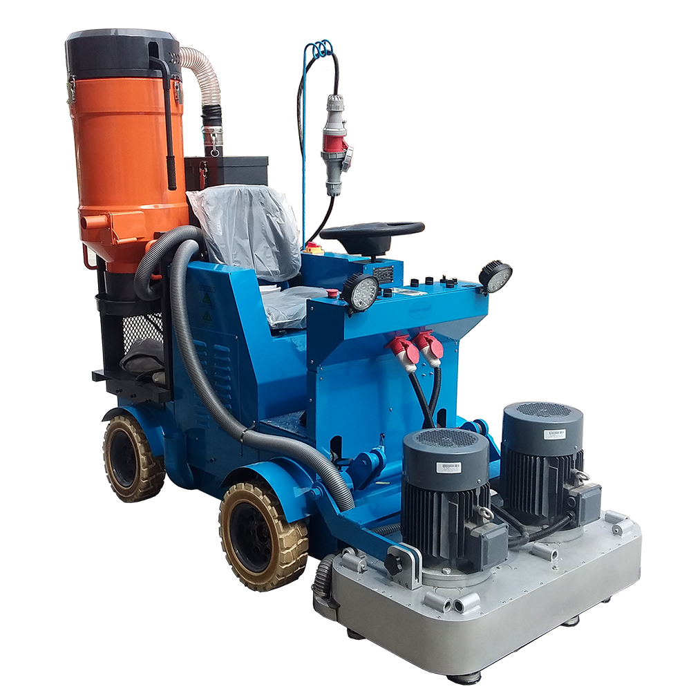 Concrete Floor Ride On Grinding Machine Factory Driving