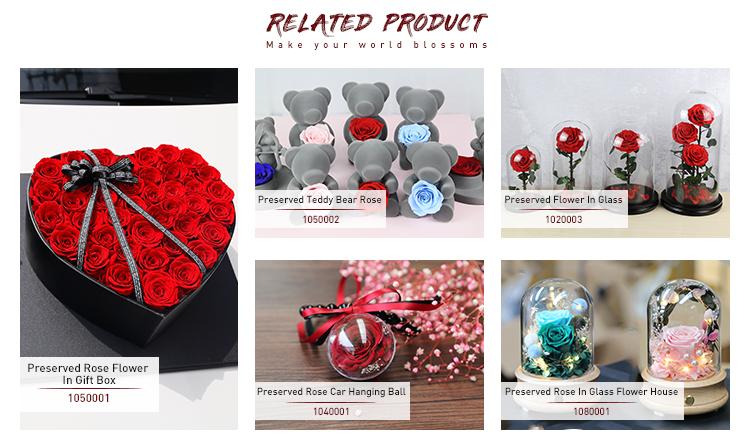 Kerst Decoreren Geschenken Nieuwe LED Licht Bloem Krans Everlasting Natuurlijke Bewaard Real Rose