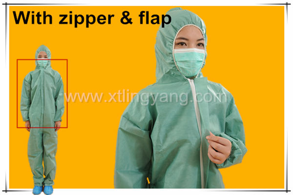 Hot Disposable Waterproof Safety PP Nonwoven CoverallProtective Clothes Cheap Safety Coverall Workwear Uniforms/Working coverall