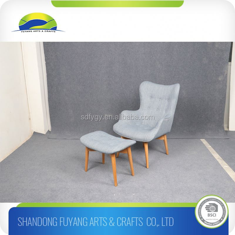 European Style Indoor Wooden Lounge Chair