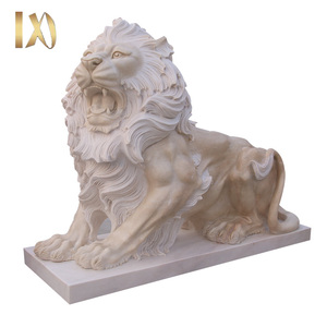 life size natural granite antique marble animal lion statues for sale