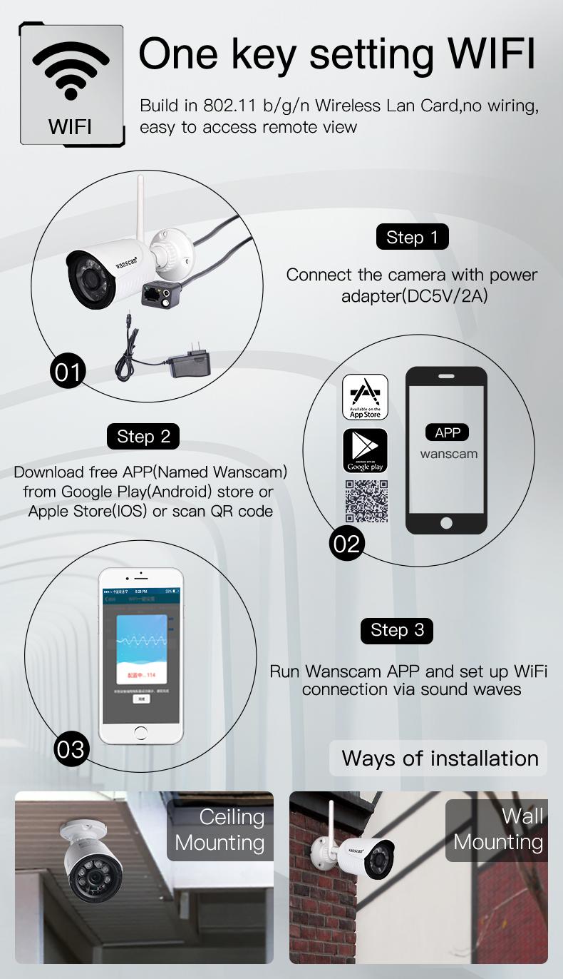 Outdoor Camhi Hd P2p Wireless Ip Camera 2 Megapixels Sd Card - Buy Wireless  Ip Camera 2 Megapixels,Outdoor Wireless Ip Camera Sd Card,Camhi Hd P2p Ip