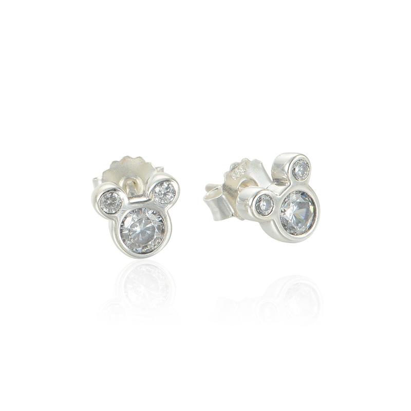 Pandora Interchangeable Earrings: Women Sterling Silver Jewelry Crystal Earrings Piercings