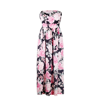 Summer Women Sexy Maxi Long Floral Tee Dress