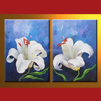 Wholesale Handmade Flower Beautiful Oil Painting Image For Decor