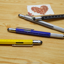 Customlize 7-in-1 metal multi-functional tool gift ball pen