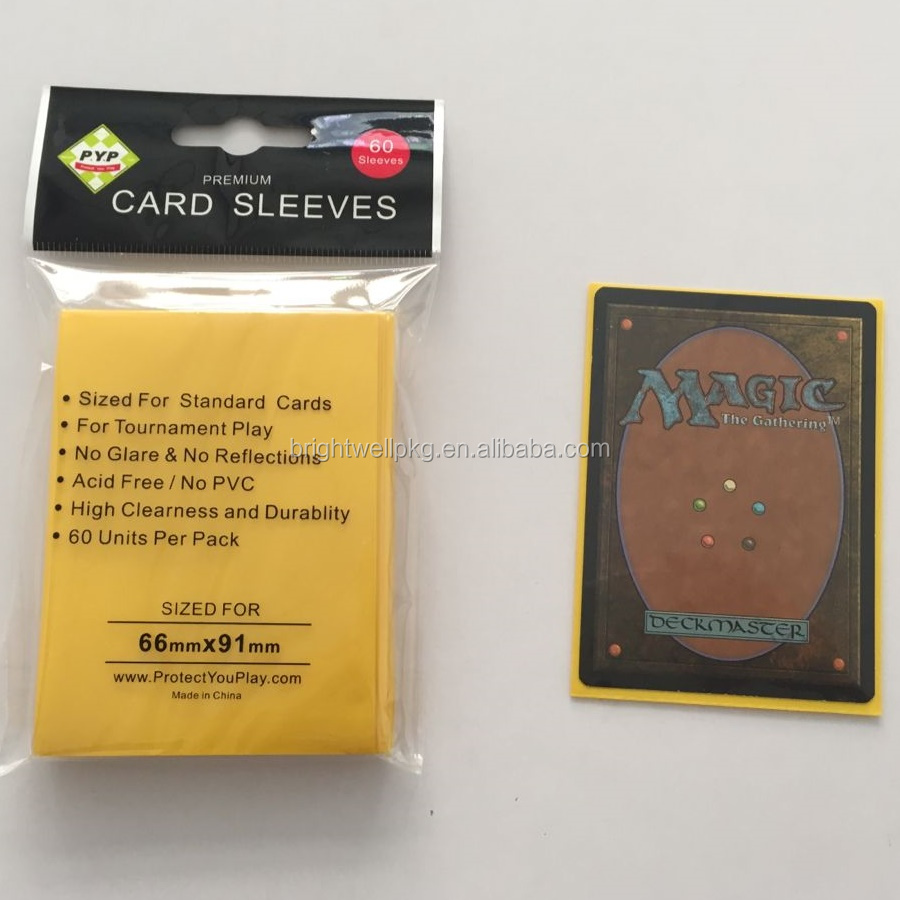 59e565a9994 Yellow Standard Magic The Gathering Size Matte Game Deck Protectors Sleeves