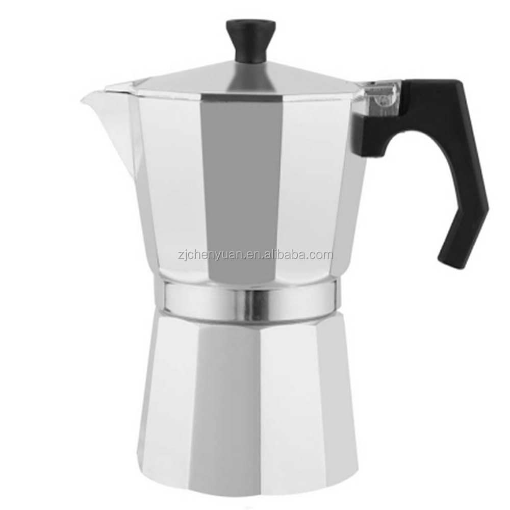 italian-style antique Aluminium espresso coffee maker
