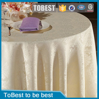 ToBest Hotel supplies Wholesale Hotel Restaurant Tablecloth Luxury Banquet TableCloth