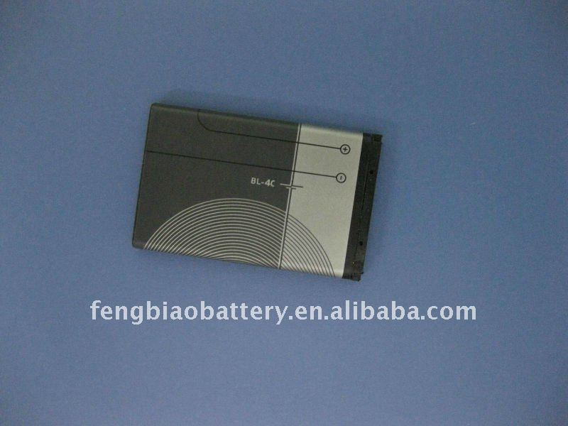 Mobile phone battery for NOKIA BL-4C 3.7V 850mAh 6100/5100/7200/2650/3108/6260/6170