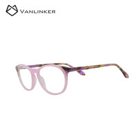 Most Popular Fashion Trend Cool Style Colorful Round Frame Acetate Reading Glasses For Unisex