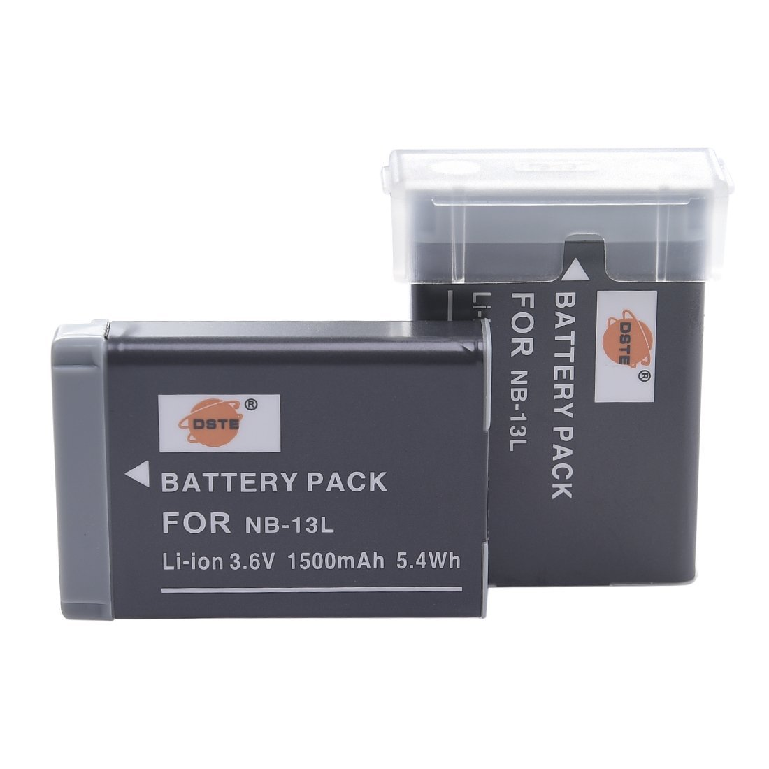DSTE 2x NB-13L Replacement Li-ion Battery for Canon PowerShot G5X G7X G9X G7 X Mark II G9X Mark II SX620 HS SX720 HS SX730 HS Digital Camera as NB13L