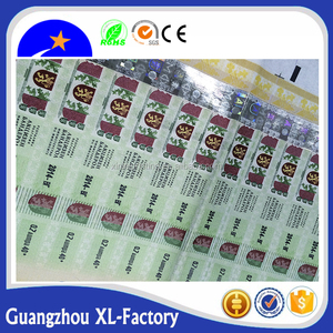 High quality holographic strip label, print hologram on paper, hot stamping anti counterfeit hologram foil on paper