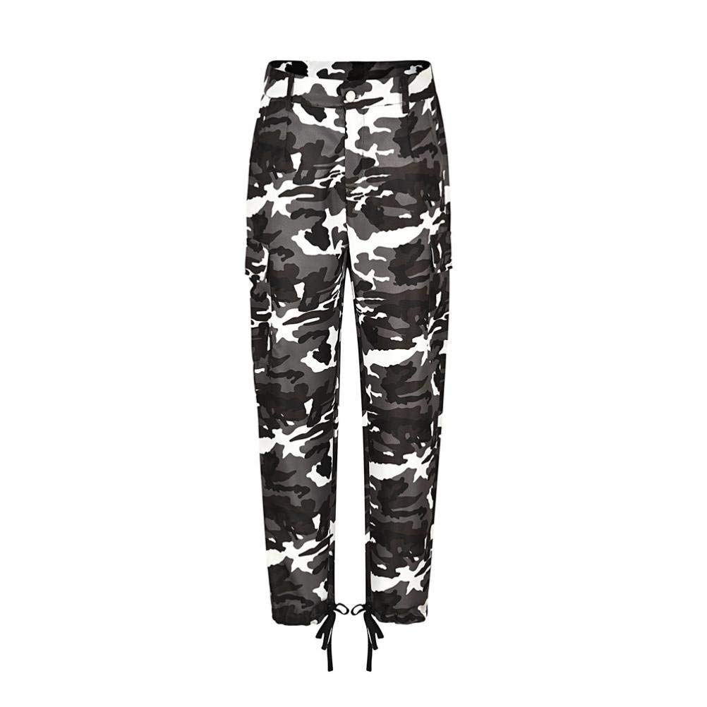 bc350dfd28614 Women Cargo Pant, SOWU Camo Cargo Trousers Hip Hop Rock Military Army  Combat Camouflage Pants