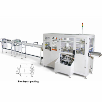 vertical toilet tissue paper packing making machine
